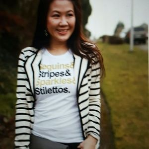 Womens small t&j fitted shirt